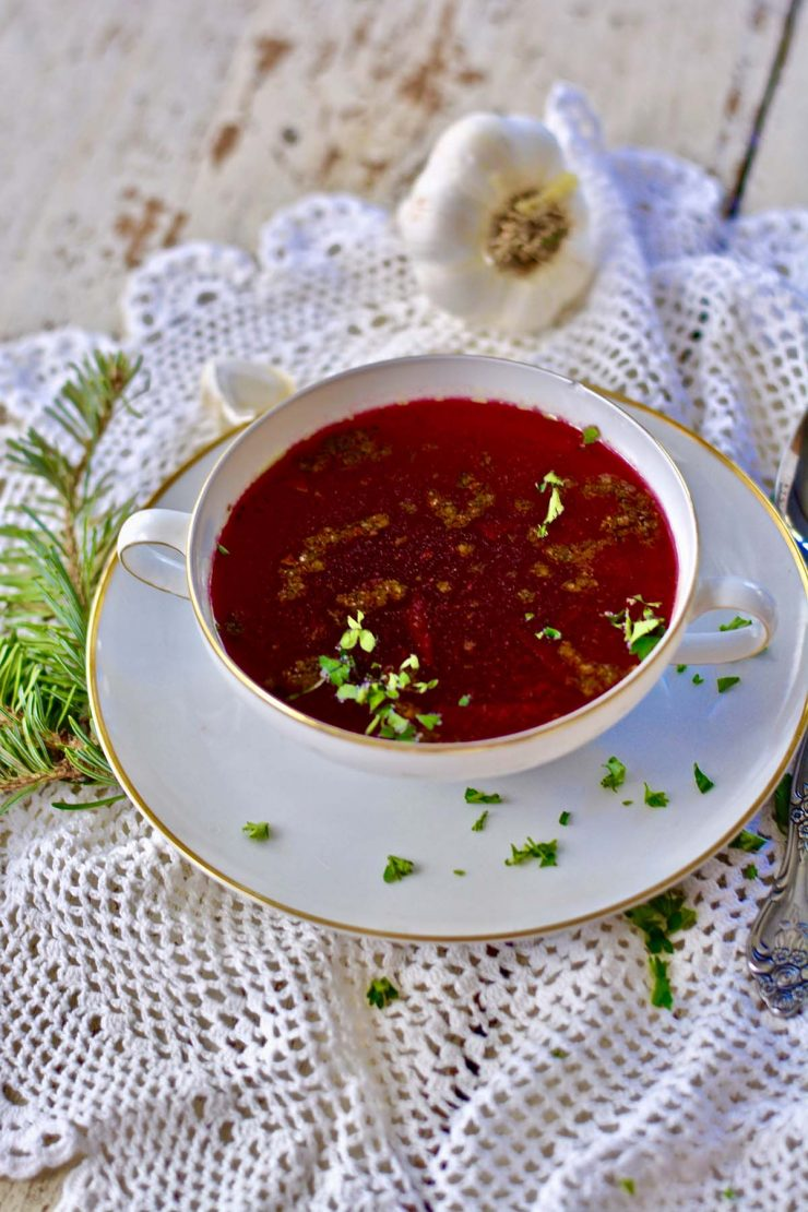 Authentic Polish Beet Soup Recipe The Tastes Of Life Holistic Cooking And Living