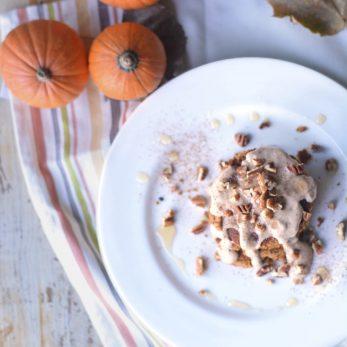 Healthy Hazelnut Pumpkin Pancakes