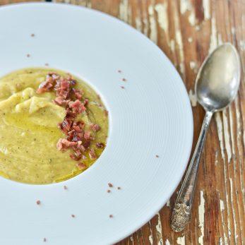Healthy Creamy Potato Leek Soup
