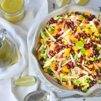 Healthy Crisp Kohlrabi and Pomegranate Salad Recipe