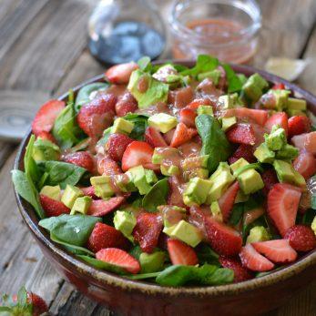 Roasted Strawberries Vinaigrette - Summer Salad