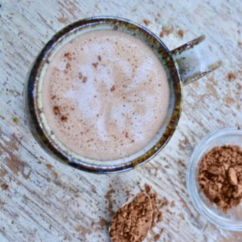 Coconut Whipped Cream Hot Chocolate