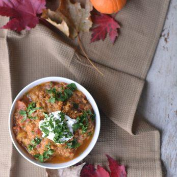 The Best Turkey Pumpkin Chili Recipe!